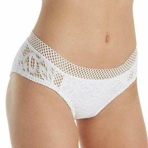 Becca Lace Hipster White Bikini Bottom NWT